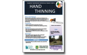 Harvesting Method Fact Sheet – Hand Thinning