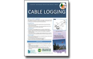 Read more about the article Harvesting Method Fact Sheet – Cable Logging